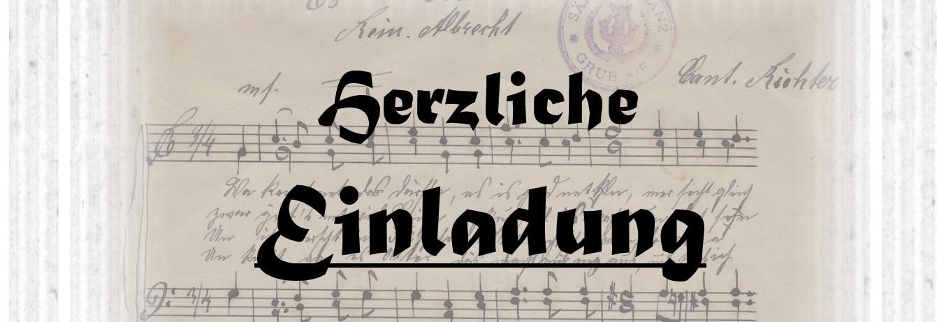 """""""Es Gru"""" (Lied von Pfarrreinhold)  – erste Steintafel – wird dargestellt"""