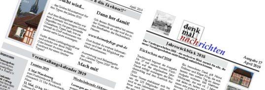 denkmalnachrichten + Stimmzeltel für das Mundartwort